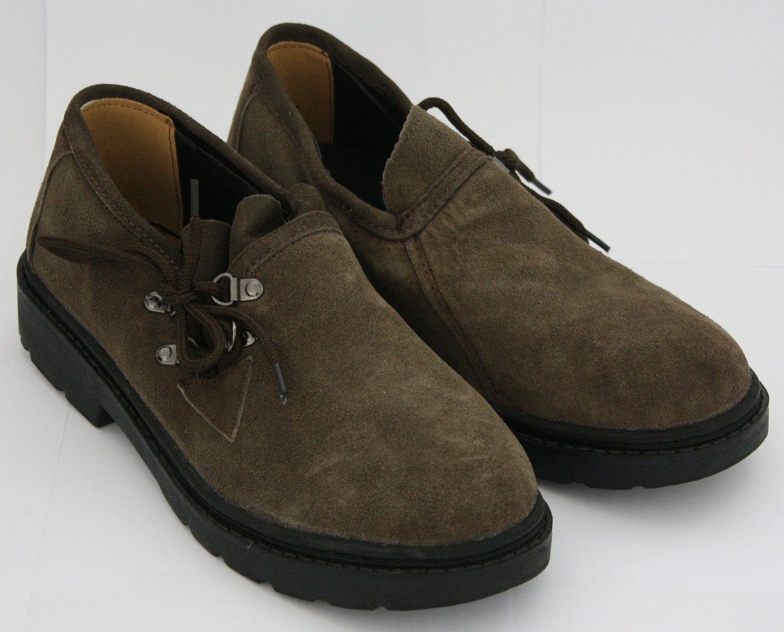 Homme costume chaussures brogues en cuir neuf gris brun 41 44 45 top marron ebay - Costume gris chaussure marron ...